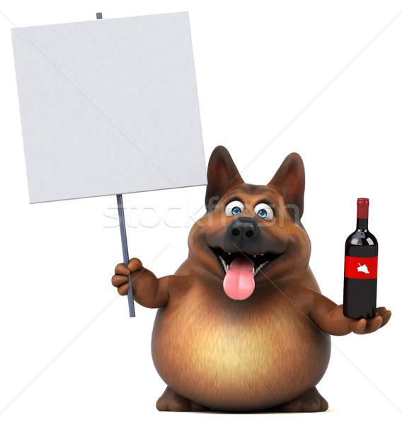 Eğlence çoban köpek 3d illustration içmek hayvan Stok fotoğraf © julientromeur