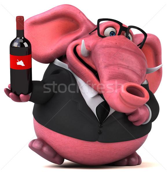 Roz elefant ilustrare 3d bere bea costum Imagine de stoc © julientromeur
