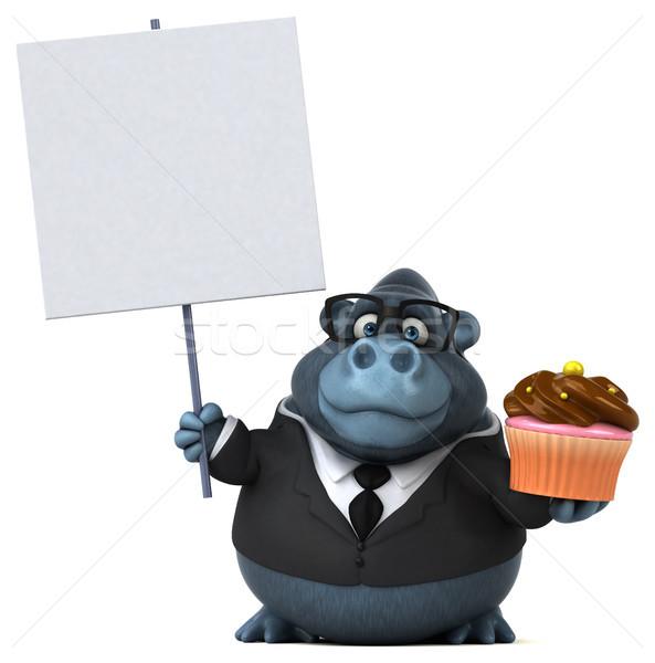 Eğlence goril 3d illustration işadamı takım elbise hayvan Stok fotoğraf © julientromeur