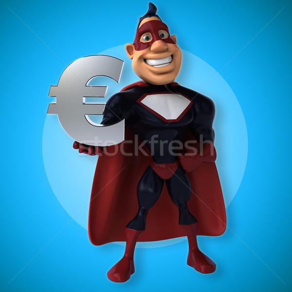 Jókedv szuperhős 3d illusztráció test kék sebesség Stock fotó © julientromeur