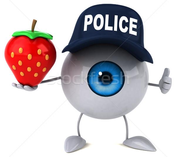 Auge Licht Schönheit Medizin blau Erdbeere Stock foto © julientromeur