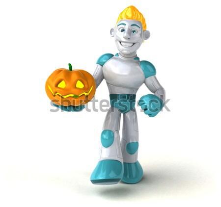 Leuk ridder digitale soldaat helm mannelijke Stockfoto © julientromeur