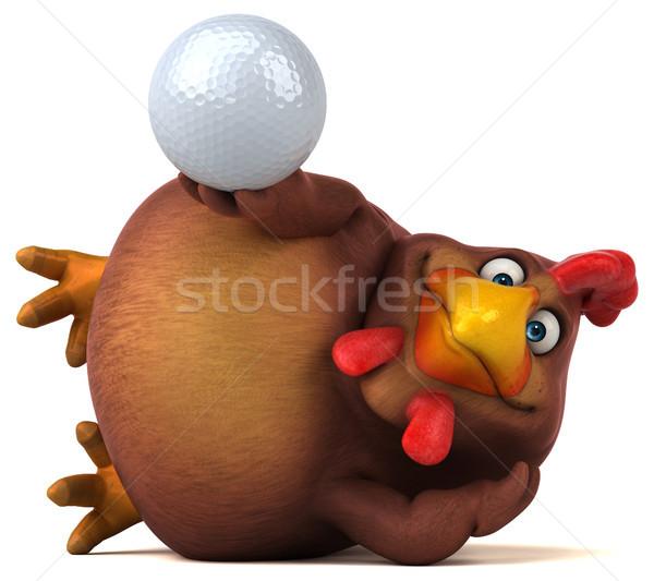 Eğlence tavuk golf spor dizayn kuş Stok fotoğraf © julientromeur