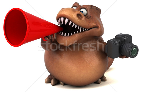Сток-фото: весело · 3d · иллюстрации · зубов · фото · животного · история