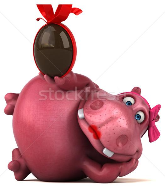 ピンク カバ 3次元の図 チョコレート 脂肪 動物 ストックフォト © julientromeur