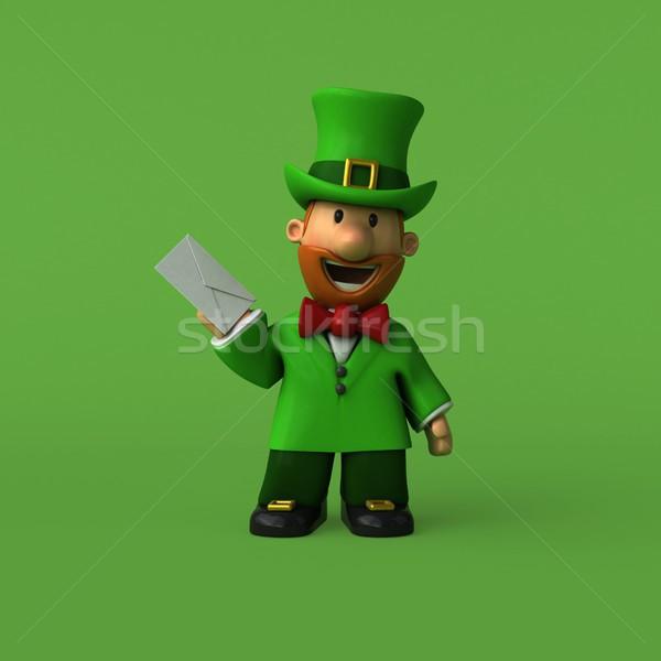3d illustration grappig hoed cartoon vent Stockfoto © julientromeur