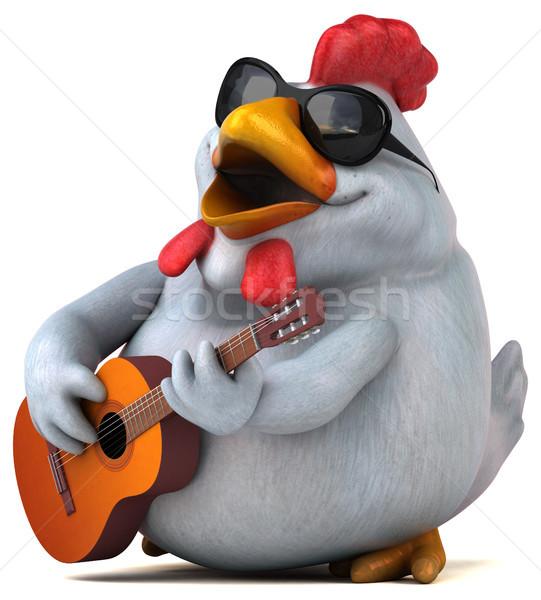 Diversión pollo 3d guitarra diseno aves Foto stock © julientromeur