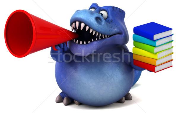 Jókedv dinoszaurusz 3d illusztráció könyv fogak állat Stock fotó © julientromeur