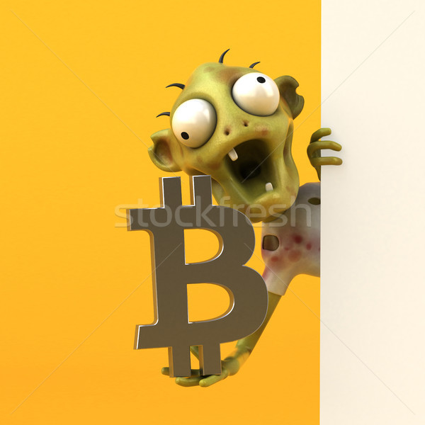 Zombie and bitcoin - 3D Illustration Stock photo © julientromeur