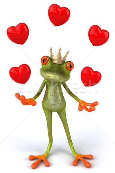 Stok fotoğraf: Kurbağa · sevmek · yeşil · hayvan · çevre · örnek