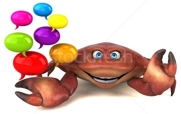 Fun crab - 3D Illustration Stock photo © julientromeur