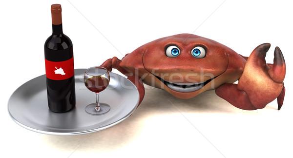 весело краба 3d иллюстрации продовольствие вино пить Сток-фото © julientromeur