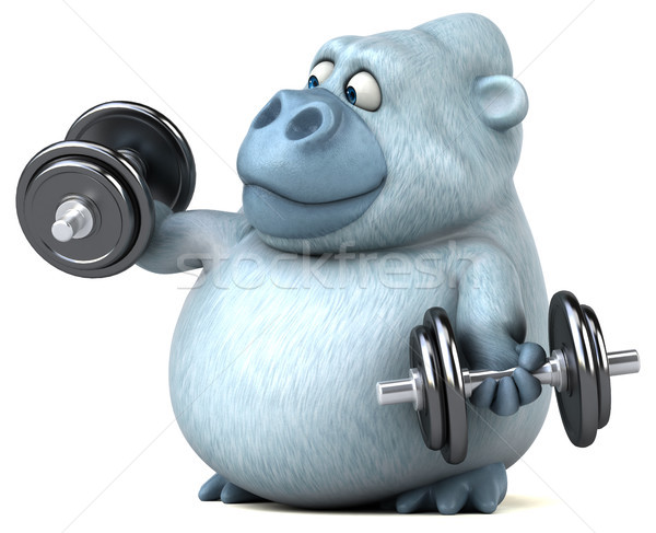 Zabawy charakter fitness siłowni Afryki funny Zdjęcia stock © julientromeur