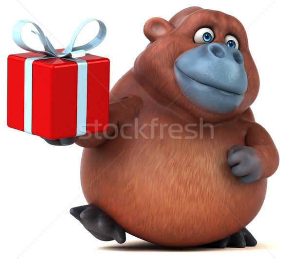 Jókedv 3d illusztráció természet Afrika majom vicces Stock fotó © julientromeur