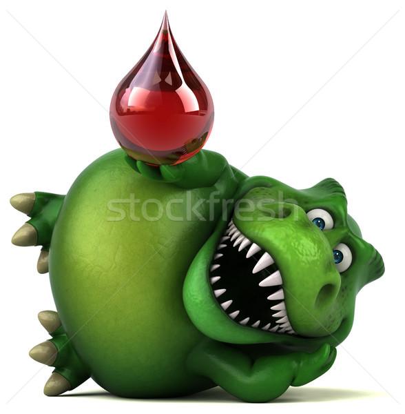 весело динозавр 3d иллюстрации красный зубов падение Сток-фото © julientromeur