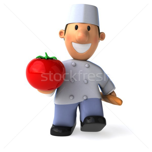 Amusement Baker 3d illustration tomate Cook Photo stock © julientromeur