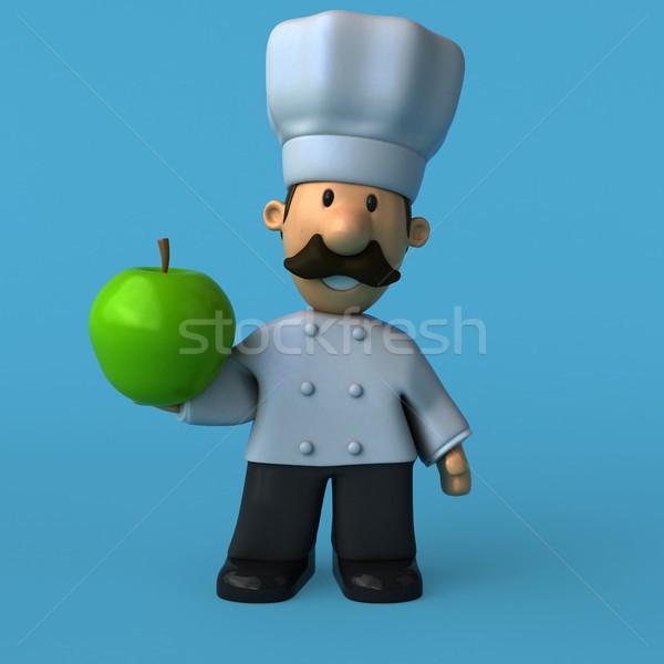 Zdjęcia stock: Zabawy · kucharz · 3d · ilustracji · restauracji · pracy · biały