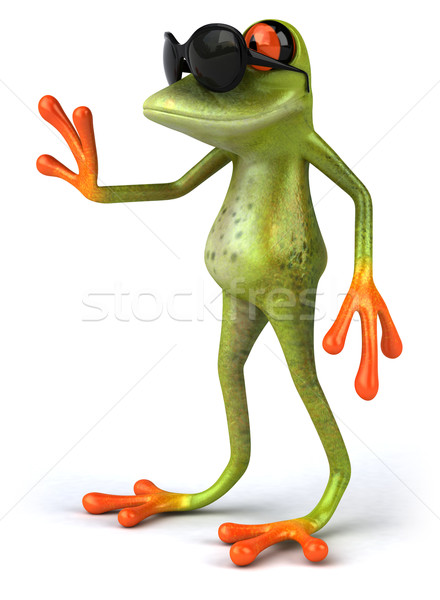 Stockfoto: Cool · kikker · groene · dier · zonnebril · milieu