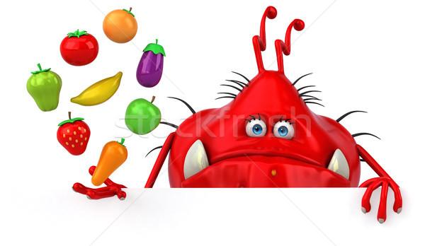 Fun germ - 3D Illustration Stock photo © julientromeur