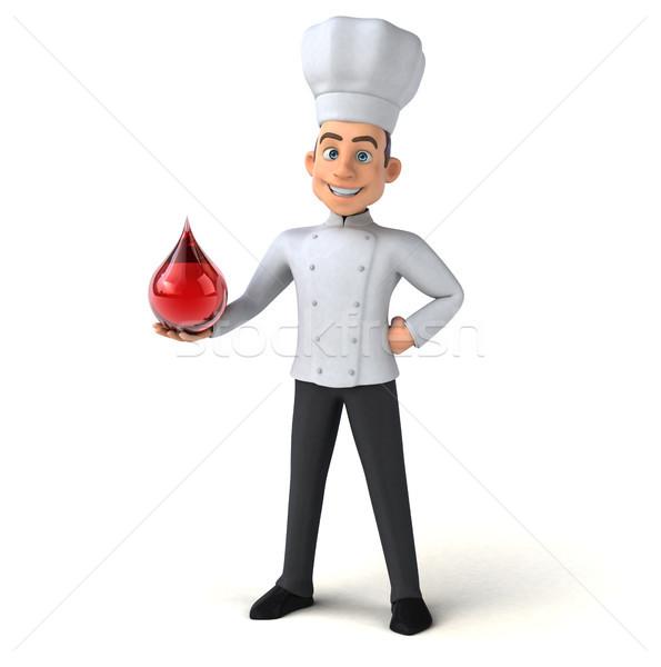 Jókedv szakács konyha piros csepp fehér Stock fotó © julientromeur