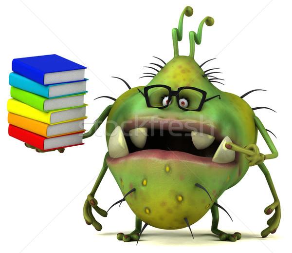 Jókedv bacilus 3d illusztráció könyv egészség rajz Stock fotó © julientromeur