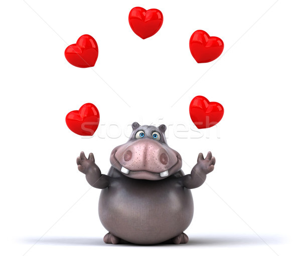 Fun hippo Stock photo © julientromeur