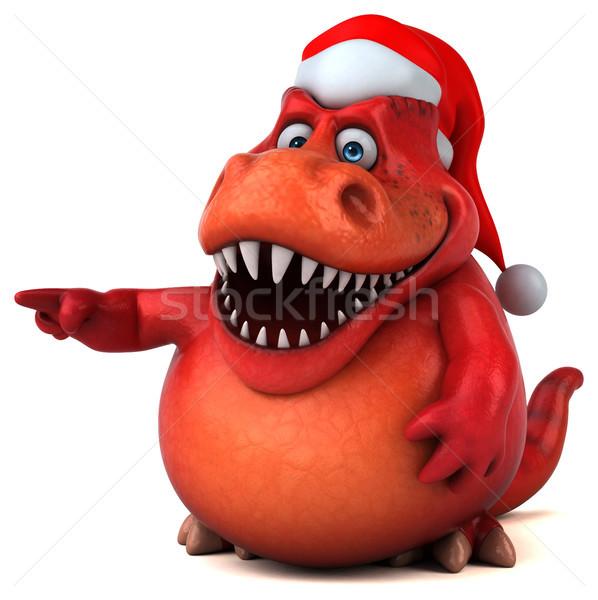 Foto stock: Diversão · dinossauro · ilustração · 3d · dentes · animal · natal