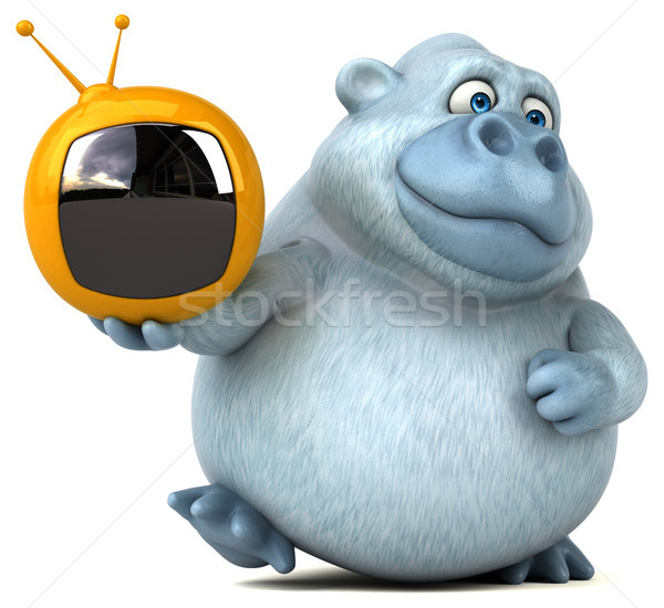 Fun yeti - 3D Illustration Stock photo © julientromeur