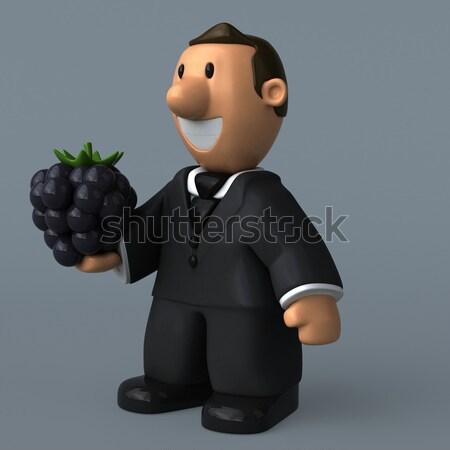 Cartoon zakenman 3d illustration business man werk Stockfoto © julientromeur