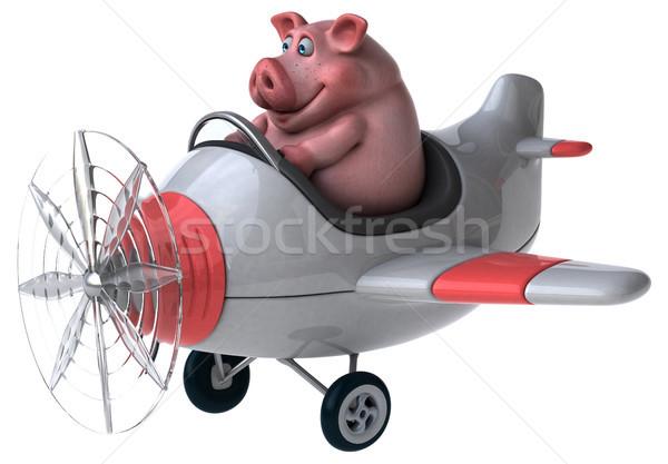 весело свинья 3d иллюстрации фермы животного сельского хозяйства Сток-фото © julientromeur