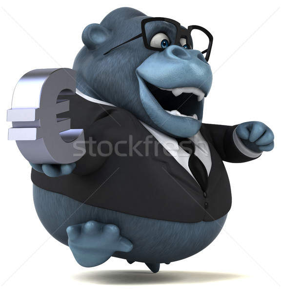 Eğlence goril 3d illustration iş finanse euro Stok fotoğraf © julientromeur