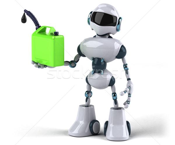 Robot technologie groene retro toekomst recycleren Stockfoto © julientromeur