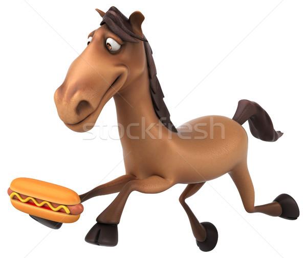 Diversión caballo dientes cabeza carrera animales Foto stock © julientromeur
