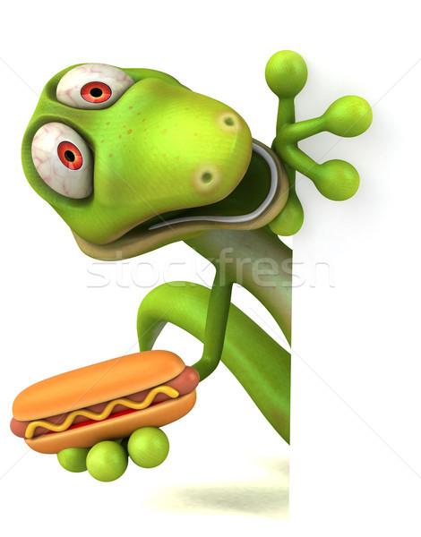 Diversión lagarto verde color animales dinosaurio Foto stock © julientromeur