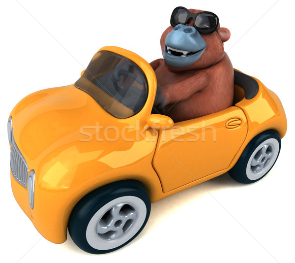 Fun orang outan - 3D Illustration Stock photo © julientromeur