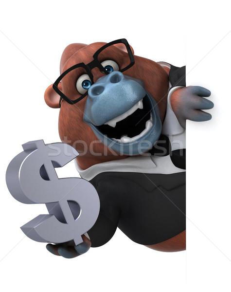 Eğlence 3d illustration doğa işadamı finanse maymun Stok fotoğraf © julientromeur