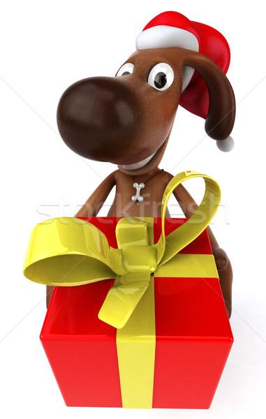 Zabawy psa psów zwierząt christmas zwierzęta Zdjęcia stock © julientromeur