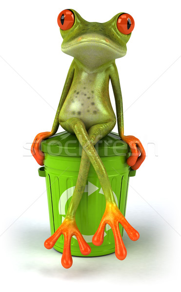 Frog and garbage Stock photo © julientromeur