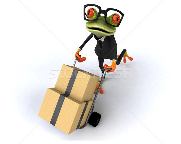 Stok fotoğraf: Eğlence · kurbağa · iş · yeşil · tropikal · hareketli