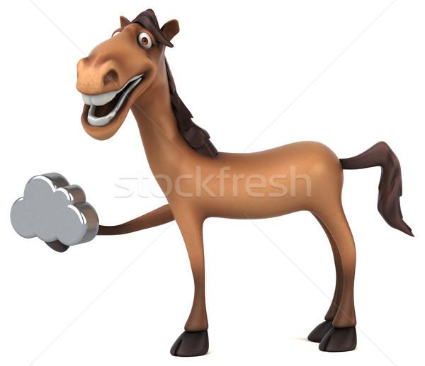 весело лошади зубов голову цифровой гонка Сток-фото © julientromeur