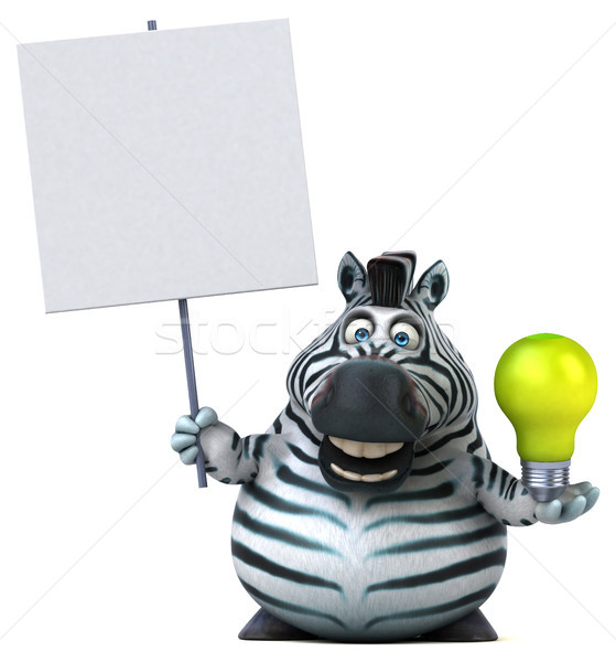Amusement zèbre 3d illustration vert Afrique animaux Photo stock © julientromeur