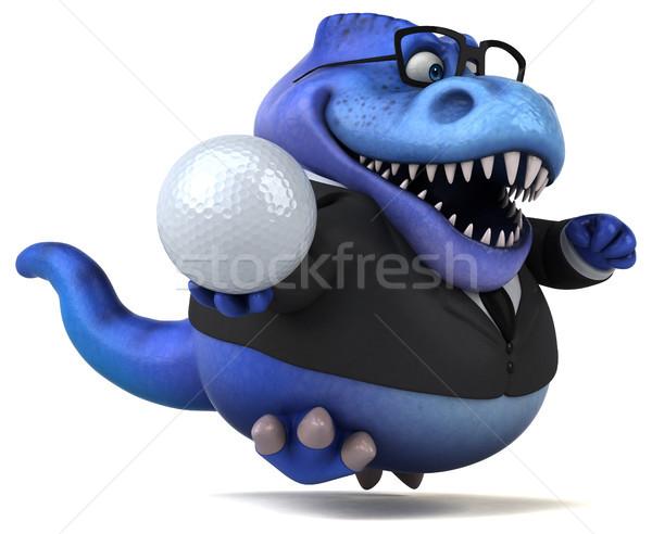 Eğlence 3d illustration iş golf spor işadamı Stok fotoğraf © julientromeur