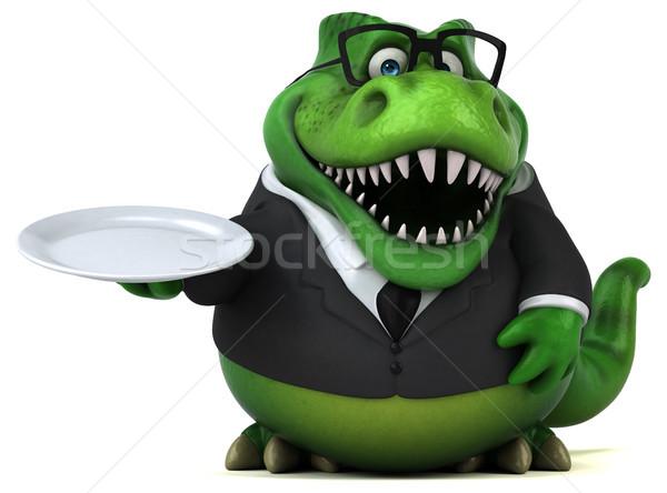 Stockfoto: Leuk · 3d · illustration · business · voedsel · zakenman · financieren