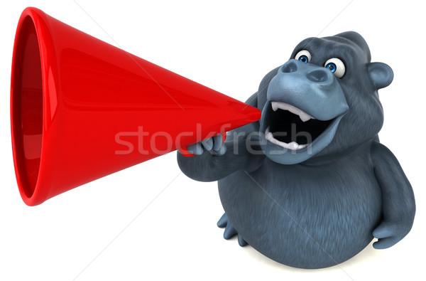 Divertimento gorilla illustrazione 3d natura africa divertente Foto d'archivio © julientromeur