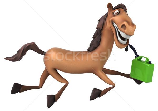 Diversión caballo verde dientes cabeza carrera Foto stock © julientromeur