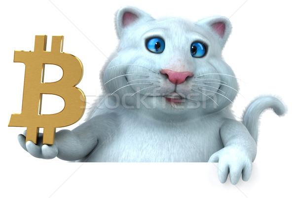 Diversão gato ilustração 3d financiar cadeia digital Foto stock © julientromeur