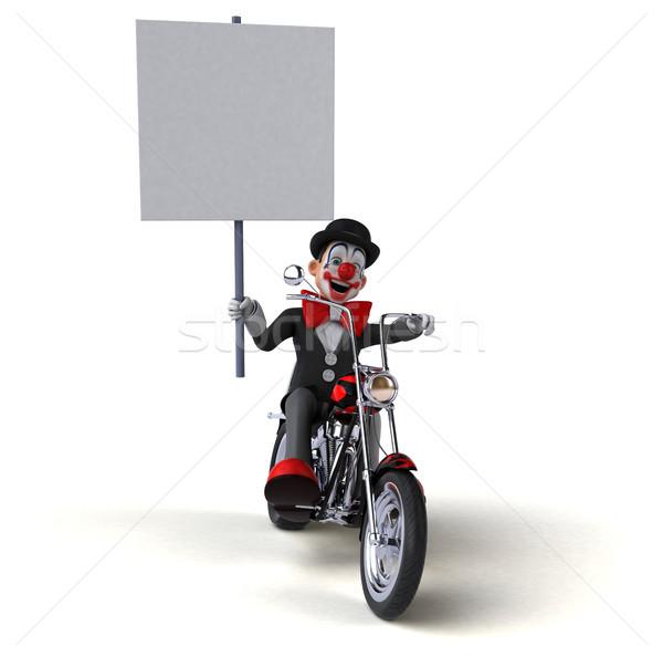 Diversão palhaço ilustração 3d projeto viajar acelerar Foto stock © julientromeur