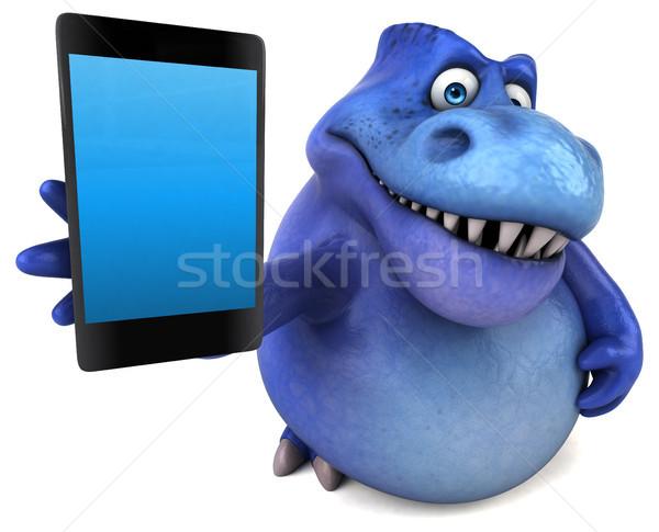 Foto stock: Diversão · dinossauro · ilustração · 3d · comunicação · dentes · animal