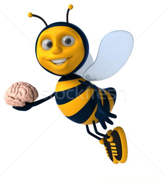 Leuk bee hersenen werknemer honing antenne Stockfoto © julientromeur