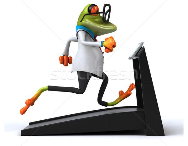 Jókedv béka szem sport fitnessz kórház Stock fotó © julientromeur